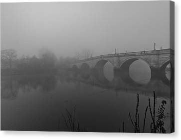 Misty Richmond Bridge Canvas Print by Maj Seda