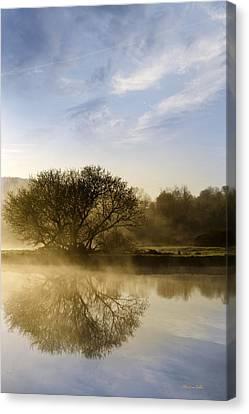 Misty River Sunrise Canvas Print by Christina Rollo