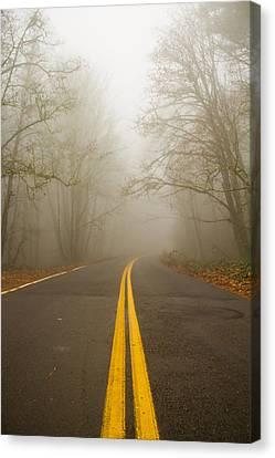 Misty Road Canvas Print by Kunal Mehra