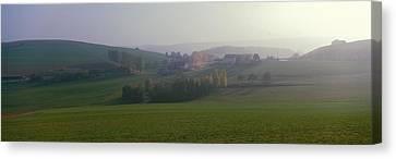 Misty Rural Scene, Near Neuhaus, Black Canvas Print by Panoramic Images