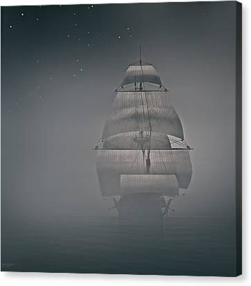 Misty Sail Canvas Print