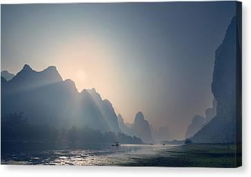 Misty Sunrise 3 Canvas Print
