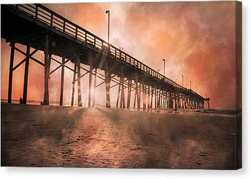 Misty Sunrise Canvas Print by Betsy Knapp