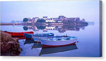 Misty Sunrise Over Etel River Canvas Print by Panoramic Images