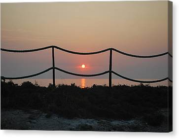 Misty Sunset 1 Canvas Print by George Katechis