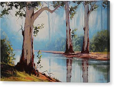 Misty Trees Canvas Print by Graham Gercken