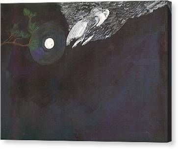Canvas Print featuring the painting Misty Twinight by Kim Pate