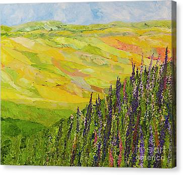 Misty Valley Canvas Print by Allan P Friedlander