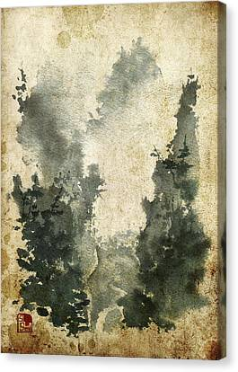 Misty Valley Altered Canvas Print by Sean Seal