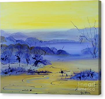 Misty Valley Canvas Print by Lyn Olsen