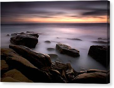 Misty Water Canvas Print by Peter Tellone