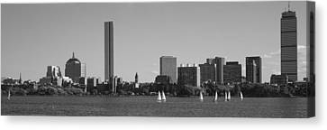 Boston Ma Canvas Print - Mit Sailboats, Charles River, Boston by Panoramic Images
