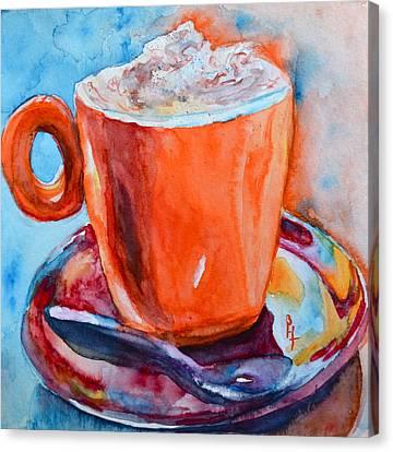 Mit Schlagobers Bitte Canvas Print by Beverley Harper Tinsley