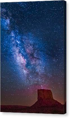 Mitchell Butte Milky Way Canvas Print by Joe Kopp