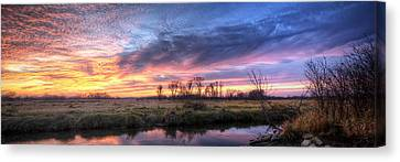 Mitchell Park Sunset Panorama Canvas Print by Scott Norris