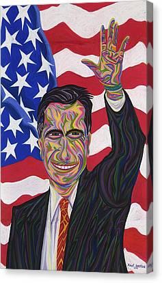 Mitt Romney Canvas Print by Robert SORENSEN