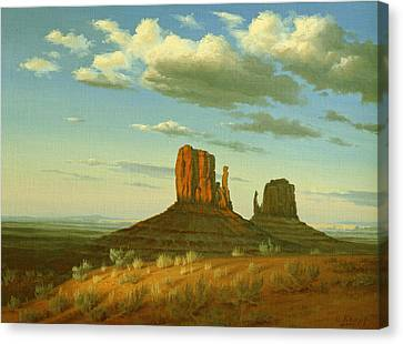Mitten Buttes Canvas Print by Paul Krapf