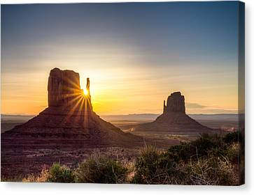 Mittens Sunrise Canvas Print
