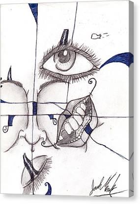 Mixed Face Canvas Print by Joshua Massenburg