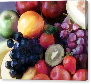 Mixed Fruit Canvas Print by Elaine Plesser