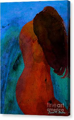 Mixed Media Figure Canvas Print by David Gordon