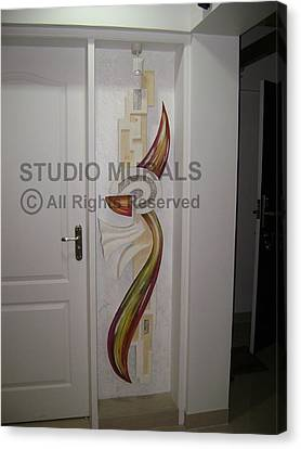 Mixed Media Mural Canvas Print by Milind Badve