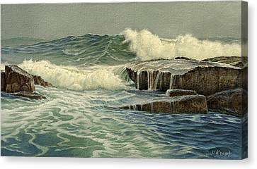 Mixed Media Seascape Canvas Print by Paul Krapf