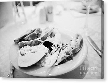 Mixed Seafood Buffet Platter Norway Europe Canvas Print by Joe Fox