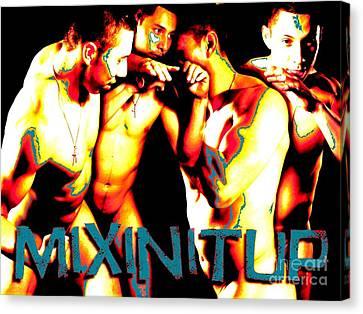 Mixin It Up Canvas Print by Robert D McBain
