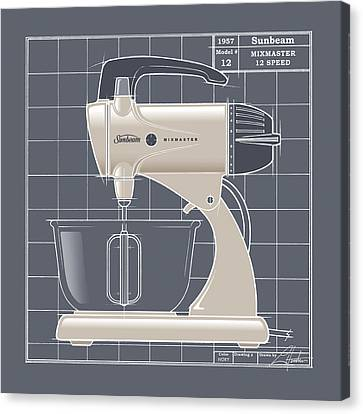 Mixmaster - Ivory Canvas Print by Larry Hunter
