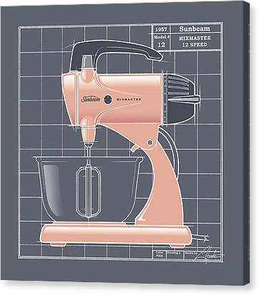 Mixmaster - Pink Canvas Print by Larry Hunter