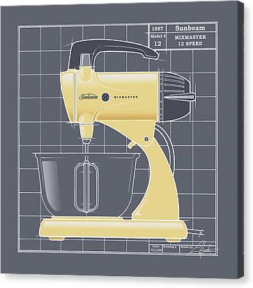 Mixmaster - Yellow Canvas Print by Larry Hunter