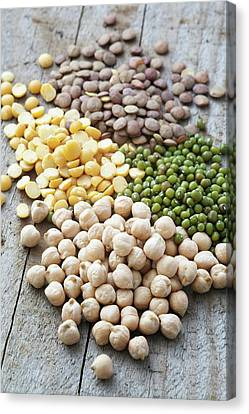 Mixture Of Peas And Lentils Canvas Print
