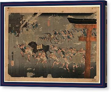 Miya, Ando Between 1833 And 1836, 1 Print  Woodcut Canvas Print by Utagawa Hiroshige Also And? Hiroshige (1797 ? 1858), Japanese