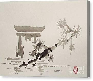 Miyajima Canvas Print - Miyajima De No Torii by Roberto Prusso