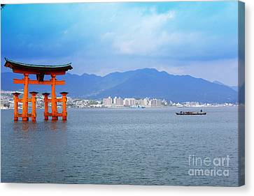 Miyajima Torii Canvas Print by Cassandra Buckley