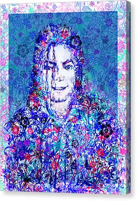 Mj Floral Version 2 Canvas Print by Bekim Art