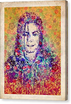 Mj Floral Version 3 Canvas Print by Bekim Art