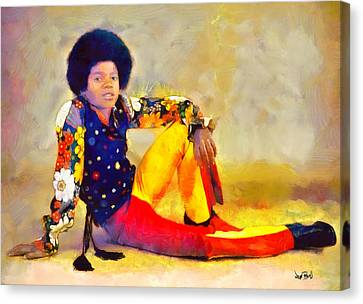 Mj - King Of Pop Canvas Print by Wayne Pascall