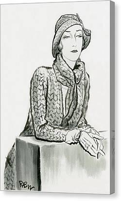 Mlle. De L'espee Canvas Print by Rene Bouet-Willaumez