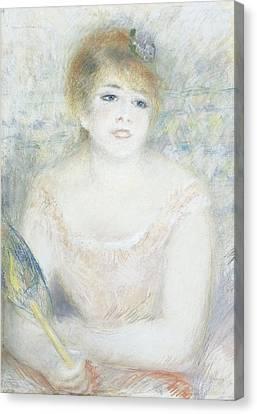 Mademoiselle Jeanne Samary Canvas Print by Pierre Auguste Renoir