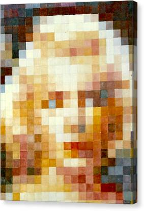 Canvas Print featuring the painting Marylin by Henryk Gorecki