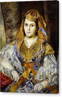 Mme. Clementine Stora In Algerian Dress, Or Algerian Woman, 1870 Oil On Canvas Canvas Print