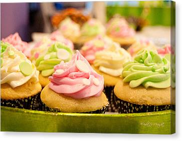 Mmm... Cupcakes Canvas Print by Paulette B Wright