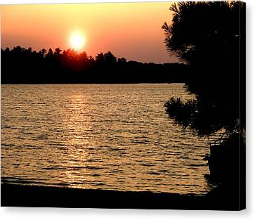 Mn Sunset Canvas Print by Bridget Johnson