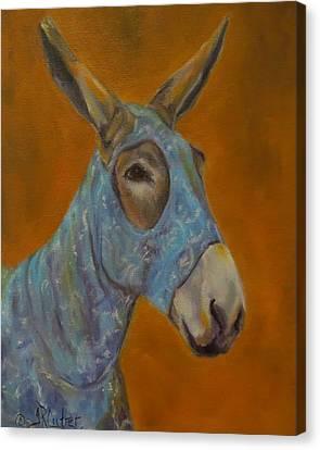 Mo Vision,donkey Canvas Print