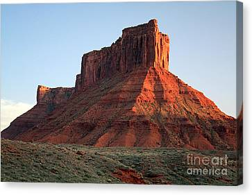 Canvas Print featuring the photograph Moab At Sundown by Edward R Wisell