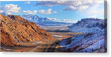 Moab Fault Medium Panorama Canvas Print by Adam Jewell
