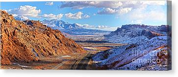 Moab Fault Panorama Canvas Print by Adam Jewell