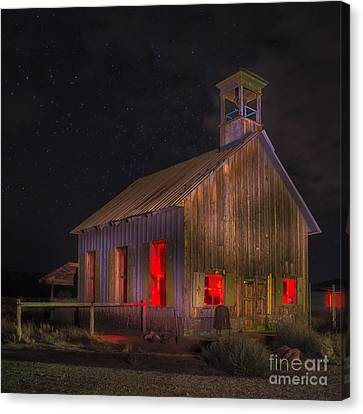 Moab One Room Schoolhouse Canvas Print by Jerry Fornarotto